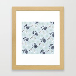 Winter pattern Framed Art Print