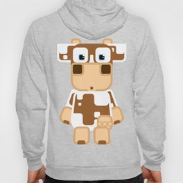 Super cute cartoon cow in brown and white - a moo-st have design for  cow enthusiasts! Hoody