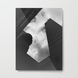Soaring heights || black and white architecture photography || SINGAPORE Metal Print
