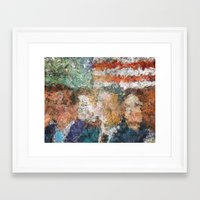 patriots Framed Art Prints featuring Patriots Gathering by politics