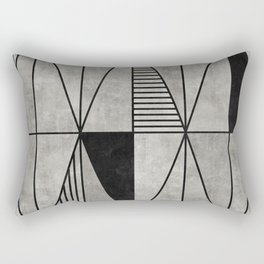 Concrete Triangles Rectangular Pillow