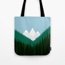 Pacific Northwest Mountains Tote Bag