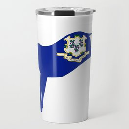 Connecticut Democrat Donkey Flag Travel Mug