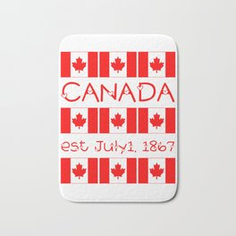 Canada Day Maple Leaf Pattern Canadian Flag Bath Mat