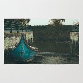 Resting boat (color) Rug