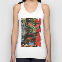 godzilla Tank Tops featuring Godzilla by Golden Boy