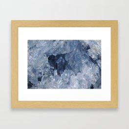 Blue Gemstone Framed Art Print
