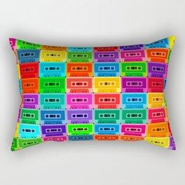 Neon Cassettes Rectangular Pillow