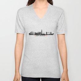 London skyline city #london Unisex V-Neck