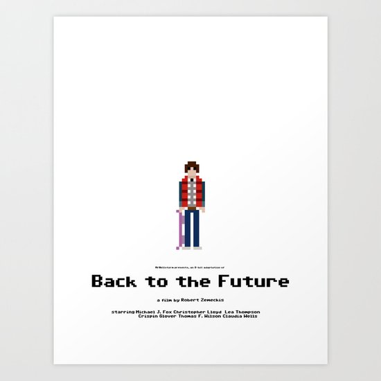 8-bit Back to The Future Art Print