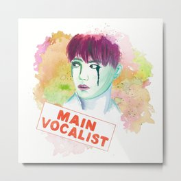 Main Vocalist Metal Print