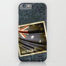Grunge sticker of Australia flag Slim Case iPhone 6s