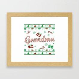 Grandma Christmas Framed Art Print