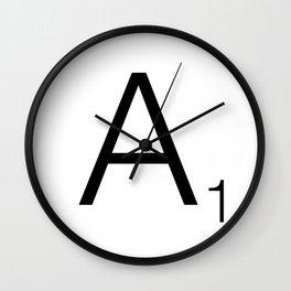 Scrabble A Wall Clock