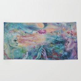 Divine Sacred Union Beach Towel