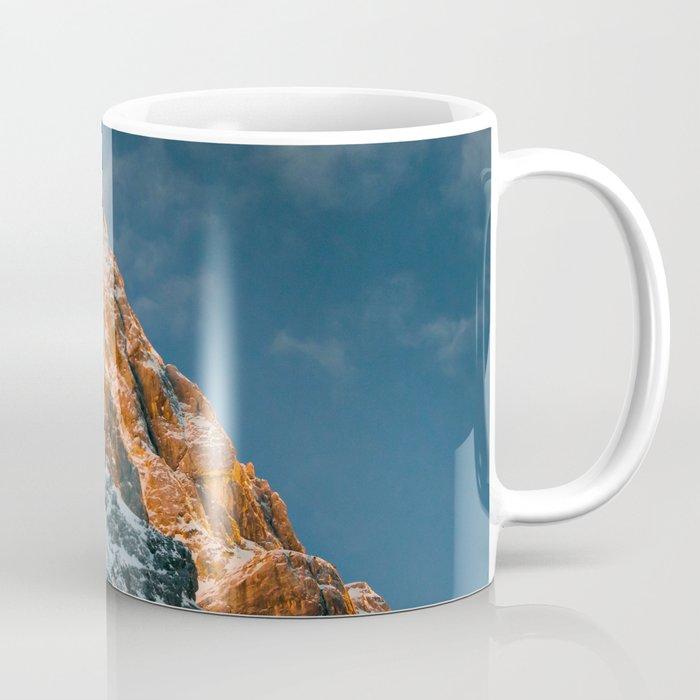 Glowing mountain at sunset Coffee Mug