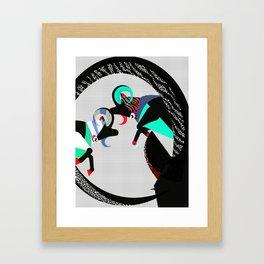 Fight of Capricorns Framed Art Print