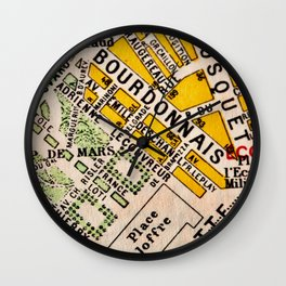 All About Paris Wall Clock