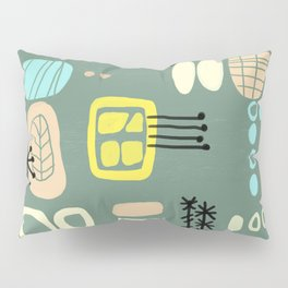 Mid Century Mod Digital Bark cloth Pillow Sham