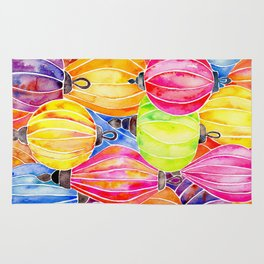 Vietnamese Rainbow Lanterns Rug