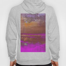 Pink Color Patches Hoody