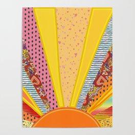 Sun Patterns Poster