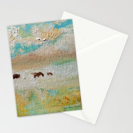 Wild Horses Summer Shimmer by CheyAnne Sexton Stationery Cards