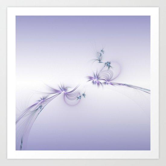 Fey Lights Fractal in Violet Art Print