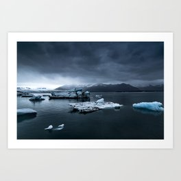 Patagonian Ice Field Art Print