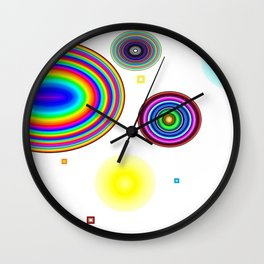 Rainbow circle Wall Clock