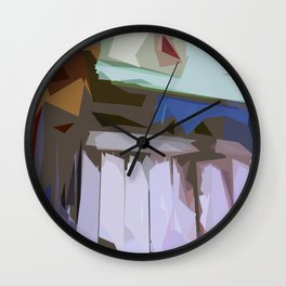 St. Maarten Color Block Fence  Wall Clock