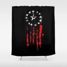 Old World Flag Shower Curtain