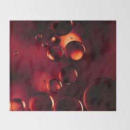 Garnet Red Macro Water Droplets Throw Blanket