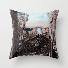 Gaudi's View Throw Pillow