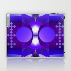 Geometric abstract in purples and grey Laptop & iPad Skin