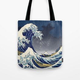 Great Wave: Kanagawa Night Tote Bag