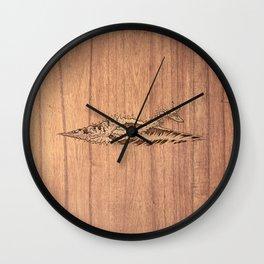 Gnarly Air Dude! (On Wood) Wall Clock