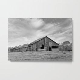 Old Weathered Barn Metal Print