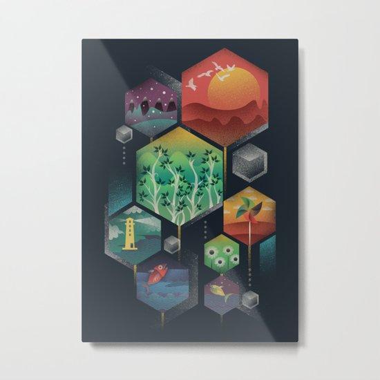 Geometrical Wonders Metal Print