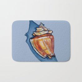 Shell Two in Blue Bath Mat