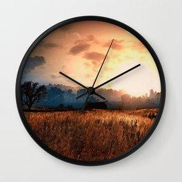 Fields of Heaven Wall Clock