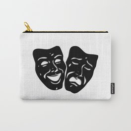 Theater Masks of Comedy and Tragedy Carry-All Pouch