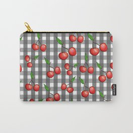 Gingham: Cherry Carry-All Pouch