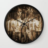 sex and the city Wall Clocks featuring Sex in the city by WDeluxe