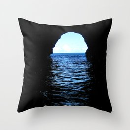 Don't be here at high tide Throw Pillow