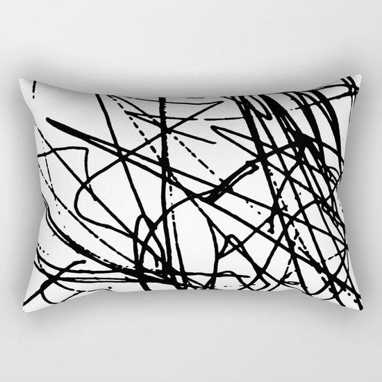 Daisy Scribble Rectangular Pillow