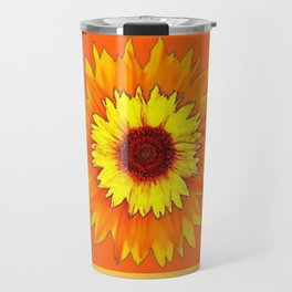 Southwestern Sun Flowers Abstract Design Travel Mug