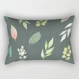 Succulent, green, floral Rectangular Pillow