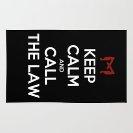 Keep Calm and Call the Law Rug