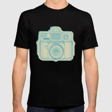 I Still Shoot Film Holga Logo - Turquoise/Tan Mens Fitted Tee Black SMALL
